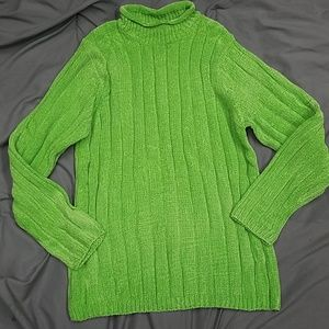 Lime Green Chenille Sweater